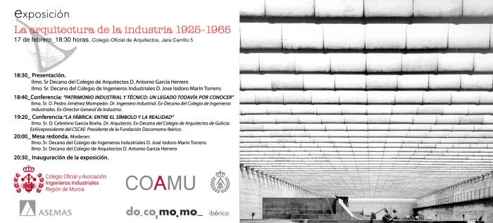 Flyer Exposicion - Arquitectura de la Industria